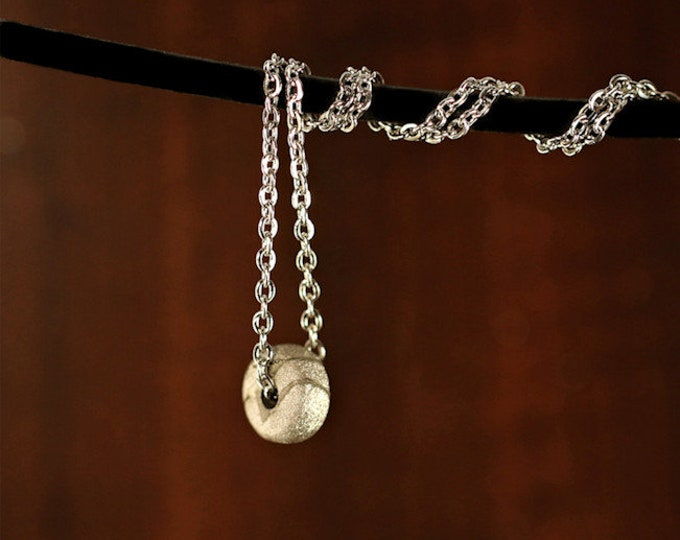 Meteorite Iron Space Rock Jewelry Seymchan Small with Stainless Steel Chain