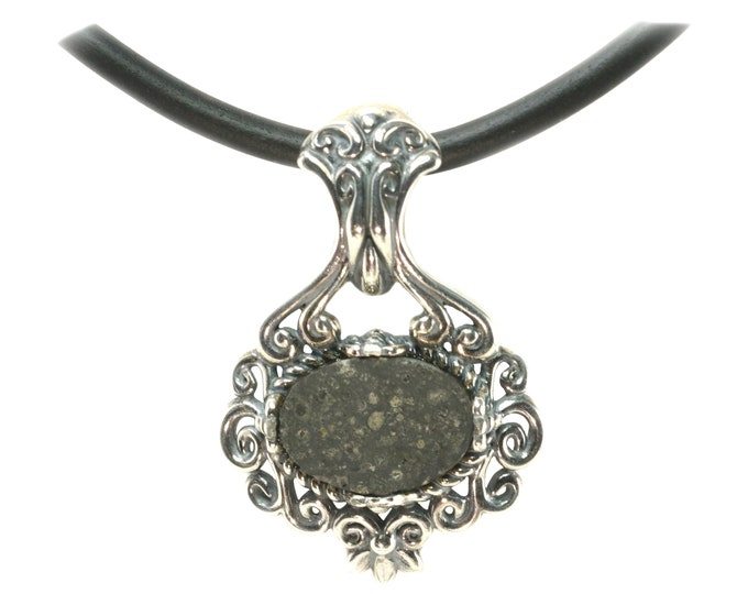 Meteorite Jewelry Allende Pendant Necklace Victorian Large