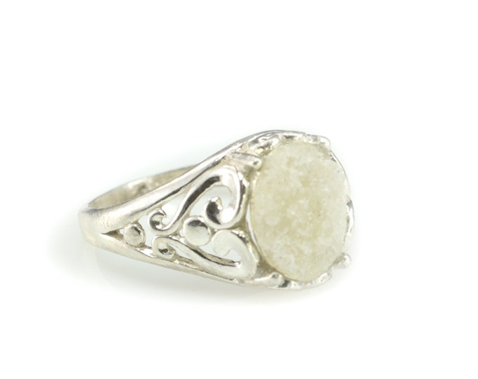Real Fulgurite Lightning Sand Sterling Silver Ring Various Sizes