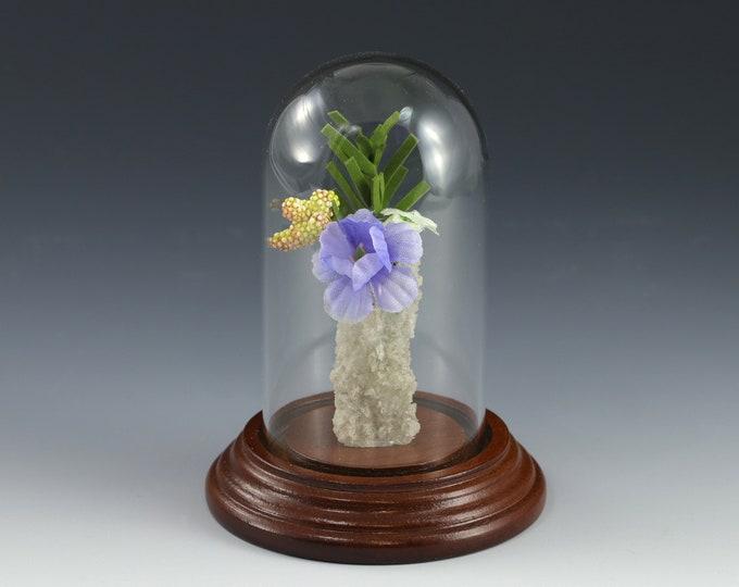 White Fulgurite Vase Lightning Sand Flowers Leaves Buds Video