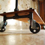 4 steel casters with industrial (set of 4 wheels OPTION proposed for the purchase of a clothing rack)