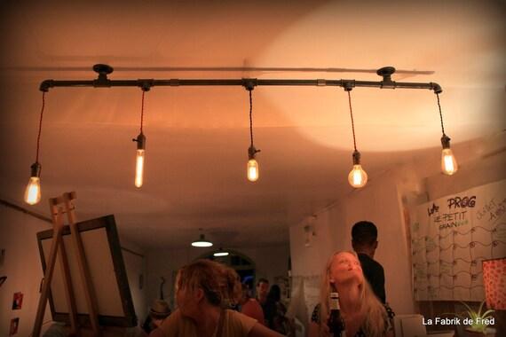 Plafoniere A Sospensione Per Negozi : Lampada a sospensione plafoniera lampadario tubo industriale