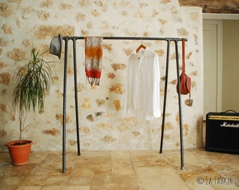 SWING garment rack,Industrial Pipe Clothing Rack,Wall Mounted Rack,clothes pipe shelf,pipe clothes rack,steampunk rack,bookshelve