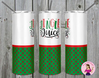 Set of 10 Christmas Cups Shatterproof Plastic 16 oz Gift Wrapped and the Perfect Party Cup Size Jingle and Mingle Cups