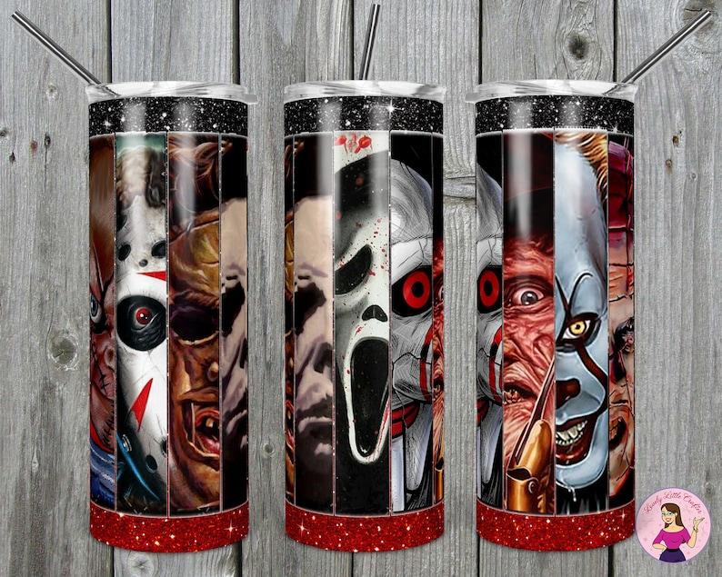 Halloween cup horror movie tumbler movie tumbler skinny tumbler horror tumbler Scary movie tumbler