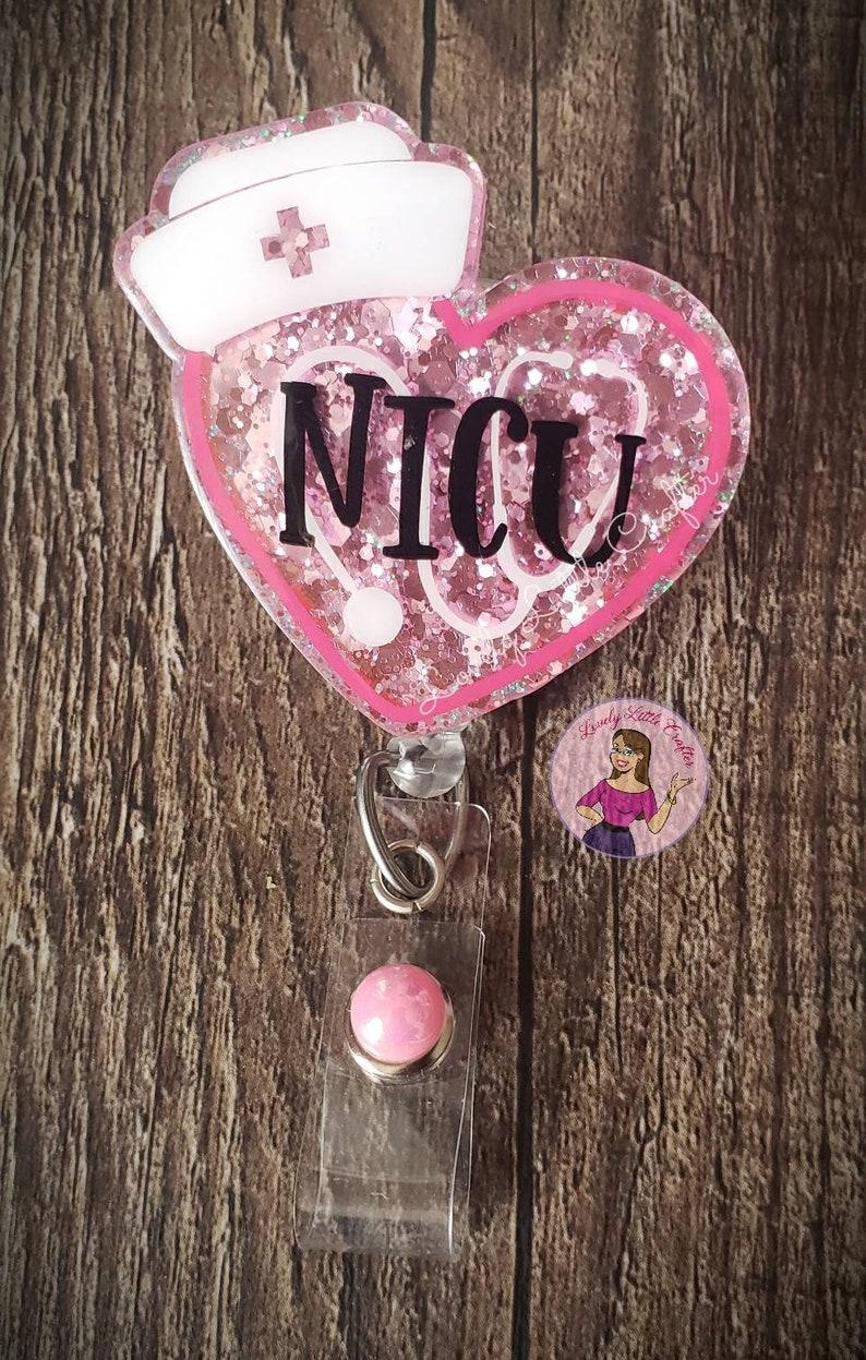 medical badge reel nurse badge reel NICU badge reel RN badge holder Nicu badge retractable ID badge holder