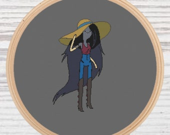 Marceline Cross Stitch Pattern Adventure Time