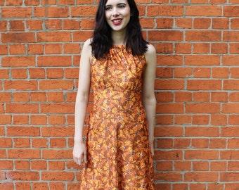 Vintage 70's Maxi Dress Size 10 Vintage Halter Maxi Dress Boho Dress  Festival Dress Halter Neck Maxi Dress UK10 Bohehiam Dress Women's