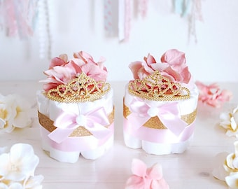 Baby Shower Decorations Girl Pink And Gold Etsy