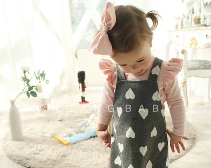 Featured listing image: Angel Sleeve Shirts for baby girl / cotton cozy shirts / fall winter spring outfits / Pink Ivory / baby girl tops / T shirt