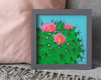 Cactus Screen Print, Square Screenprints, Plant Art Print, Tropical Art Print, Cacti Art, Tropical Screenprint, Tropical Plant Art