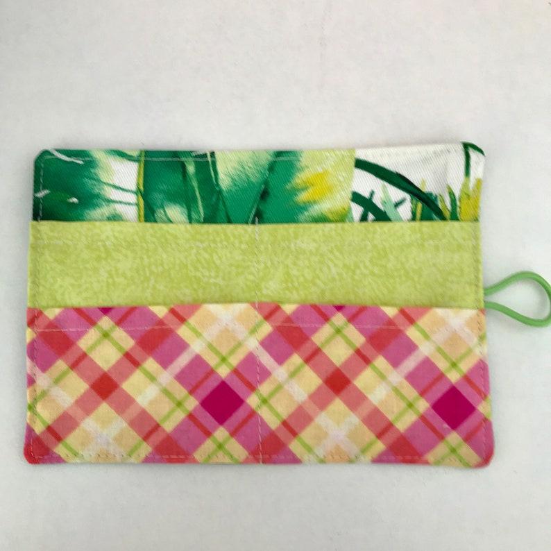Teacher Gifts Palm Leaf Design-Travel Tea Purse Teabag wallet Holder Tea Lovers Gift-Hostess Gift Quality Fabrics. Tea bag Wallet