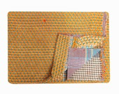 Vintage Kantha Quilt Reversible Handmade Cotton Throw quilt