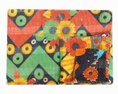 Handmade Vintage kantha quilt, Indian Vintage kantha throw, Recycle fabric boho quilt, quilt,boho chic bedding, comforter, coverlets,blanket
