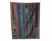 Shop Vintage Kantha Quilt, Twin size fair trade kantha bedspreads, vintage kantha throw, kantha blanket