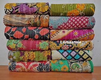 Lot Handmade Vintage Kantha Quilts,vintage kantha quilt wholesale,kantha quilt lot,wholesale quilts Bedding, Bedspread blanket
