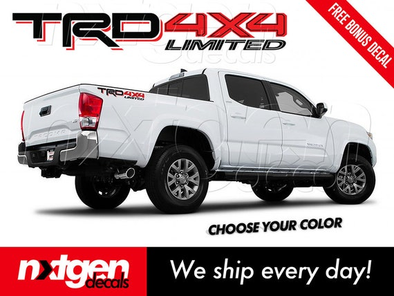 SR5 4x4 Toyota Tacoma Tundra Truck Bed Side Vinyl Decals Stickers 2x