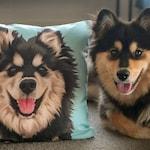 Custom Pet Portrait Pillow Mindfulness Gift Custom Portrait Drawing Dog Memorial Art Pet Keepsake (Basic Illustration Pillow)
