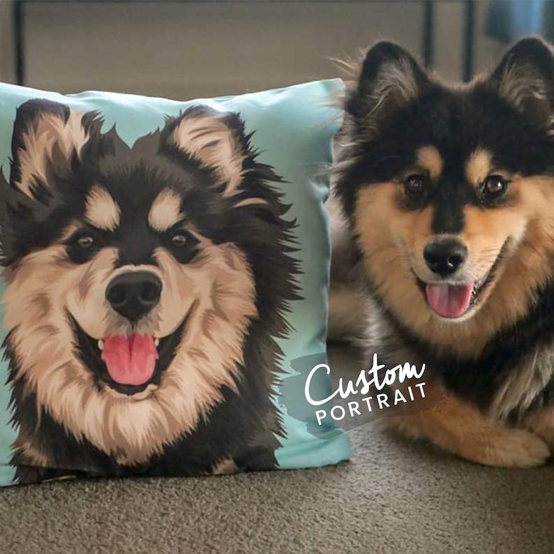 Custom Pet Portrait Pillow Custom Pet Pillow Portrait Custom image 0