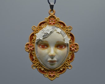 Fairy tale princess pendant. The perfect gift for a special occasion.