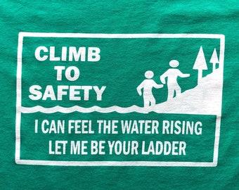 Widespread Panic Shirt-Climb to Safety Lot Shirt-Adult Uni T Shirt Sizes S M L XL 2X 3X 4X 5X-Kelly Green T Shirt