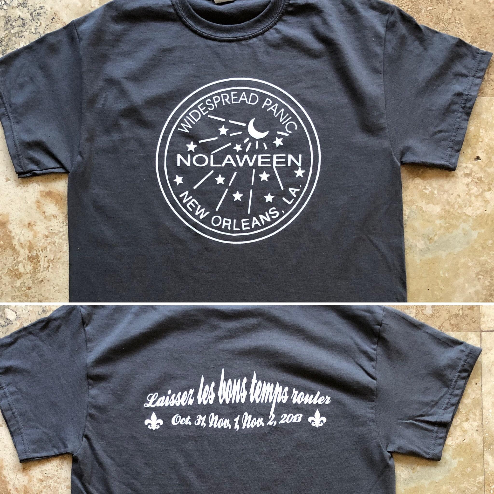 128adc9c15fcf Widespread Panic Shirt-New Orleans NOLA Halloween 2013-Adult Uni T Shirt  Sizes S M L XL XXL-Charcoal Grey T Shirt