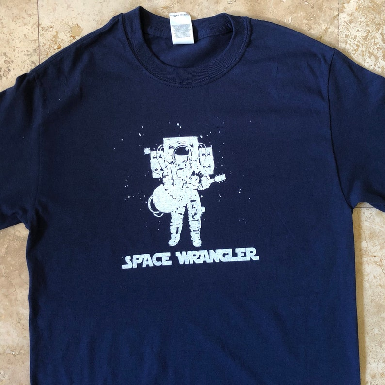 2c9ffe6aa3b58 Widespread Panic Shirt-Space Wrangler Astronaut Lot Shirt-Adult Uni T Shirt  Sizes S M L XL XXL-Navy Blue T Shirt