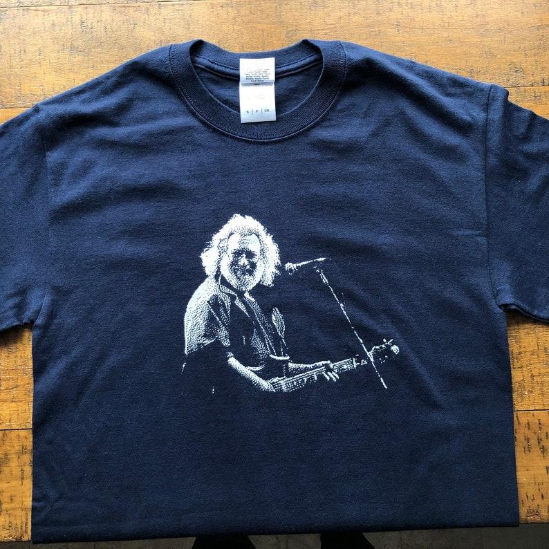 0538cf23da35a Lot Shirt-Jerry Guitar-Adult Uni T Shirt Sizes S M L XL XXL-Navy Blue T  Shirt
