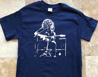 Widespread Panic Shirt-Mikey Michael Houser Lot Shirt-Adult Uni T Shirt Sizes S M L XL 2X 3X 4X 5X-Navy Blue T Shirt