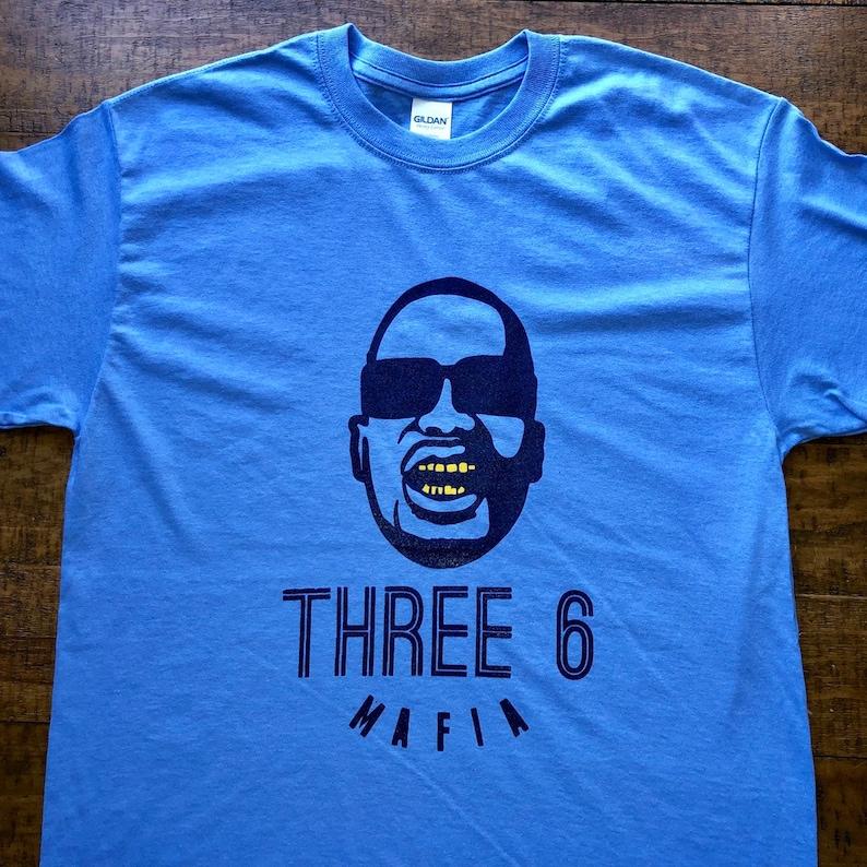 e421de017719e Memphis Shirt-Three 6 Mafia-Adult Uni T Shirt Sizes S M L XL XXL-Carolina  Blue T Shirt