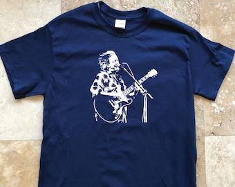 Widespread Panic Shirt-JB John Bell Lot Shirt-Adult Uni T Shirt Sizes S M L XL 2X 3X 4X 5X-Navy Blue T Shirt