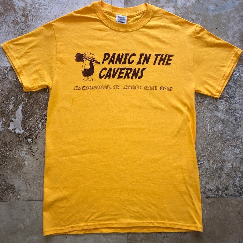 cbf06fda487bd Widespread Panic Shirt-Panic in the Caverns Lot Shirt-Adult Uni Sizes S M L  XL 2XL Gold T Shirt