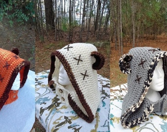 Ewok costume,Bear Hooded cowl ,Hooded neckwarmer,Teen,Adult, Handmade crochet