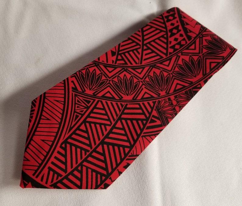 Mens Red or Purple Tribal Hawaiian Print Necktie Boys and ToddlersBaby Skinny