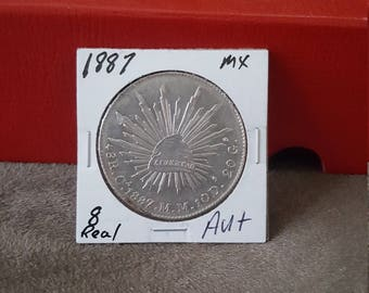 1887 Mexico Silver 8 Real Nice