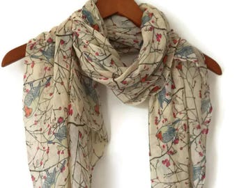 Beige Scarf / Spring Scarf / Women Scarves / Infinity Scarves / Personalized Scarf / Gifts For Her / Wrap / Scarf Women Shawl