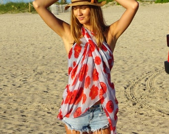 Swimsuit Cover Ups / Pareo / Bathing Suit Cover Ups / Beach Cover Ups / Beach Sarong Wrap / Swim Cover Ups / Gift for Her