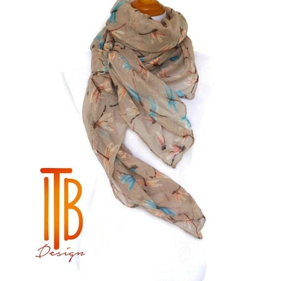 Bufanda beige primavera / bufandas de las mujeres / bufanda de   Etsy