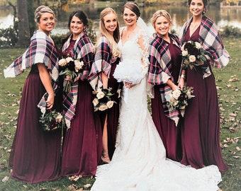 Plaid Blanket Scarf, Bridesmaids Gift, Tartan Plaid Scarf, Tartan Scarf, Oversized Scarf, Oversized Blanket Scarf, Personalized Scarf