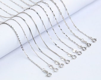 Chains .925 Sterling Silver 0.70MM Round Snake Link Necklace