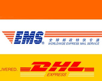 4790a664fe42 EMS or DHL express shipping for the first 0.5kg to some countries