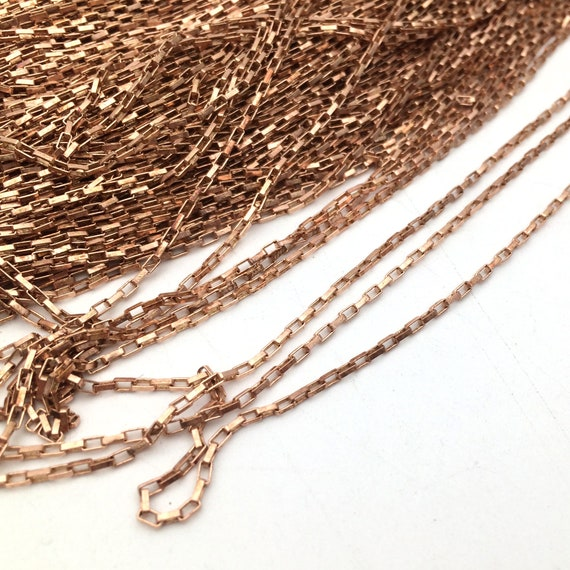 10//50Yards Raw Brass Big Long Flat Rectangle Chain Soldered Link 4x11mm 0.9mm