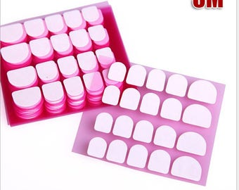 5 sheets of 20 pieces Adhesive Nail Tabs for Press on Nail Double Sided Stickers Adhesive for full cover False Nails Nail