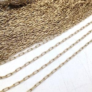 Rose Gold or 16K Long Square Curve Bar Link Chain Welded Oval Link Brass Based Curved 12.5mm Soldered