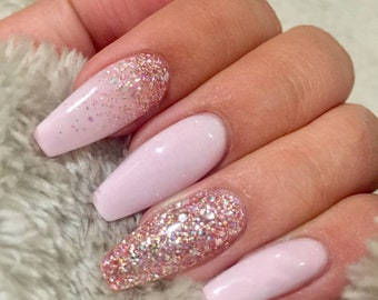 Glitter Ombre Nails Etsy