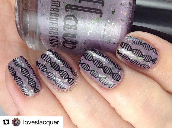 Ig110 Nail Art Stamping Plate Stem Science Technology Etsy