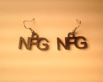 "No F****ng Good (""NFG"") earrings"