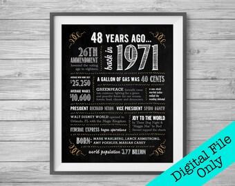 48 Jaar Verjaardag Etsy