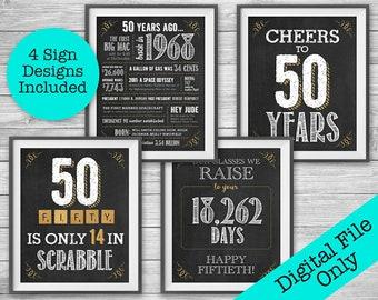 95th birthday printable party decor 4 unique 8x10 chalk etsy