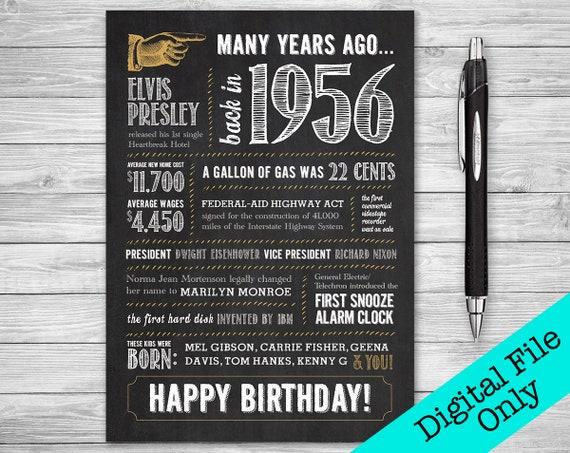 5x7 62nd birthday greeting card back in 1956 digital etsy image 0 m4hsunfo